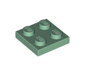LEGO Vert Sable Plate 2 x 2 (3022)