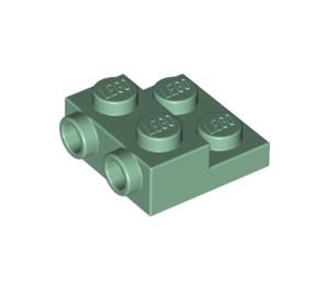LEGO Sand Green Plate 2 x 2 x 2/3 with 2 Studs on Side (99206)