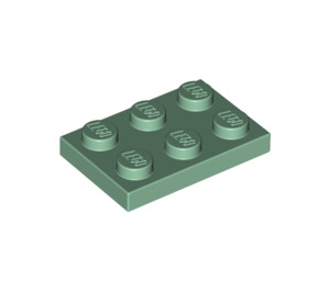 LEGO Sand Green Plate 2 x 3 (3021)