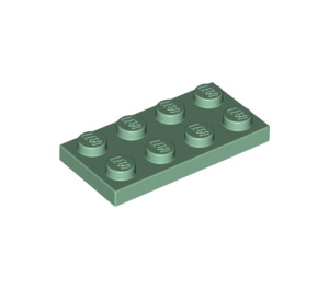 LEGO Sand Green Plate 2 x 4 (3020)