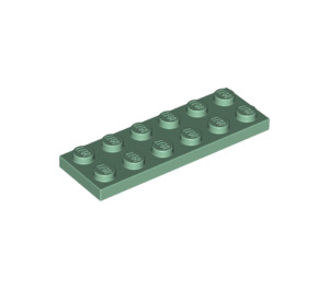 LEGO Sand Green Plate 2 x 6 (3795)