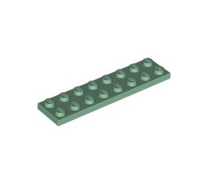 LEGO Sand Green Plate 2 x 8 (3034)