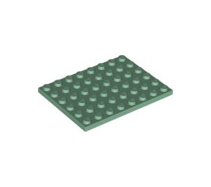 LEGO Sand Green Plate 6 x 8 (3036)