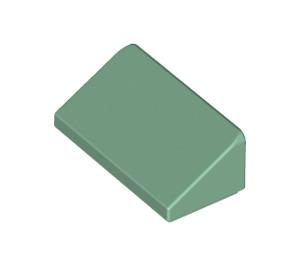 LEGO Sand Green Slope 1 x 2 (31°) (85984)