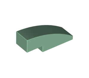 LEGO Sand Green Slope 1 x 3 Curved (50950)