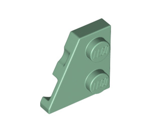 LEGO Sand Green Wedge Plate 2 x 2 (27°) Left (24299)