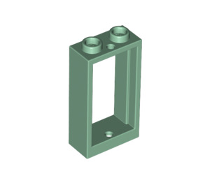 LEGO Sand Green Window 1 x 2 x 3 without Sill (60593)