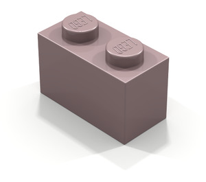 LEGO Sand Red Brick 1 x 2 (3004)