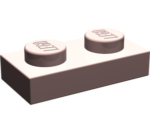 LEGO Sand Red Plate 1 x 2 (3023)