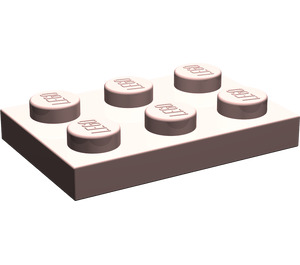 LEGO Sand Red Plate 2 x 3 (3021)