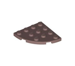 LEGO Rouge Sable assiette 4 x 4 Rond Coin (30565)