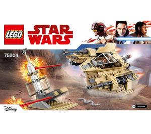 LEGO Sandspeeder Set 75204 Instructions