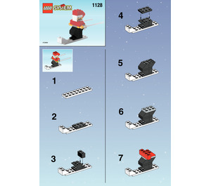 LEGO Santa on Skis Set 1128 Instructions
