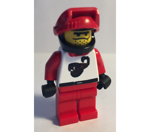 LEGO Scorpion Racer with Helmet and Red Visor Minifigure