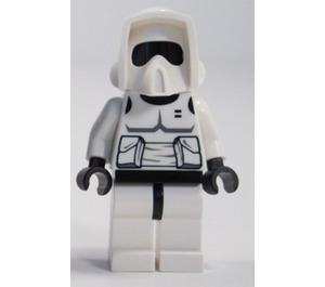 LEGO Scout Trooper with Dark Stone Gray Torso detail and Black Head Minifigure