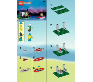 LEGO Sea Plane with Hut and Boat Set 1817 Instructions