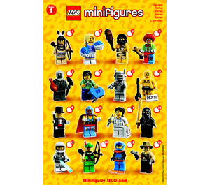 LEGO Series 1 Minifigure - Random Bag Set 8683-0 Instructions
