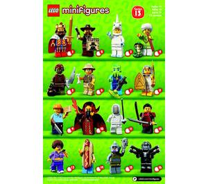 LEGO Series 13 Minifigure - Random Bag Set 71008-0 Instructions
