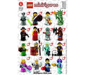 LEGO Series 6 Minifigure - Random Bag Set 8827-0 Instructions