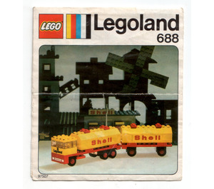 LEGO Shell Tanker Set 688 Instructions