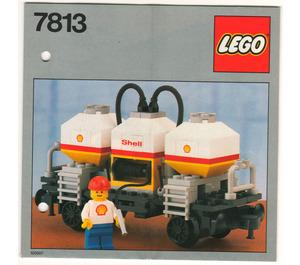 LEGO Shell Tanker Wagon Set 7813 Instructions