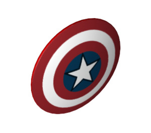 LEGO Shield with Captain America Pattern (10532 / 17459)