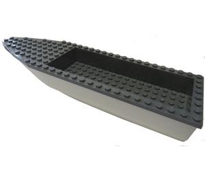 LEGO Ship Hull 8 x 28 x 3 with Dark Stone Gray Top (92709 / 92710)