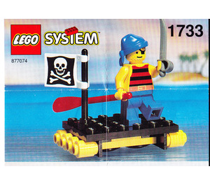 LEGO Shipwrecked Pirate Set 1733-1 Instructions