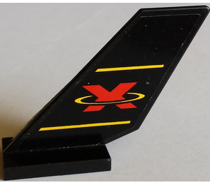 LEGO Shuttle Tail 2 x 6 x 4 with Extreme Team Logo Sticker (6239)
