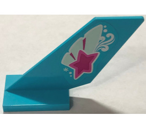 LEGO Shuttle Tail 2 x 6 x 4 with Magenta Star on Butterfly Wing Pattern on Both Sides Sticker (6239)