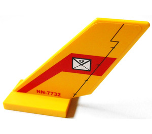 LEGO Shuttle Tail 2 x 6 x 4 with Postal Envelope and NN-7732 Sticker on Both Sides (6239)
