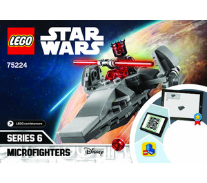 LEGO Sith Infiltrator Microfighter Set 75224 Instructions