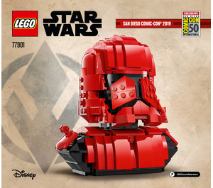 LEGO Sith Trooper Bust Set 77901 Instructions