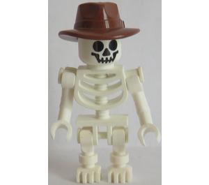 LEGO Skeleton with Fedora Minifigure