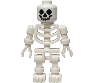 LEGO Skeleton with Rigid Arms, Thin Shoulder Pins, and Classic Smile Safety Stud Head Minifigure