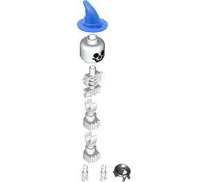 LEGO Skeleton with Wizard Hat and Bandana Minifigure