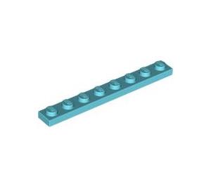 LEGO Sky Blue Plate 1 x 8 (3460)