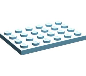 LEGO Sky Blue Plate 4 x 6 (3032)