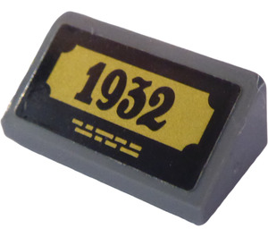 """LEGO Slope 1 x 2 (31°) with """"1932"""" Sticker (85984)"""
