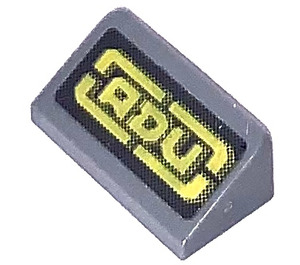 """LEGO Slope 1 x 2 (31°) with """"ADU"""" Sticker (85984)"""