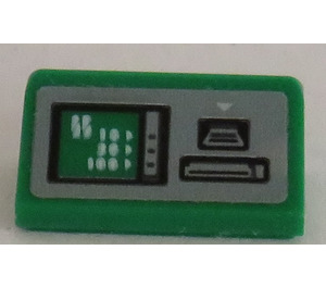 LEGO Slope 1 x 2 (31°) with ATM Terminal Sticker (85984)