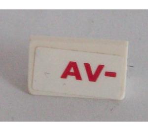 LEGO Slope 1 x 2 (31°) with 'AV-' Sticker (85984)