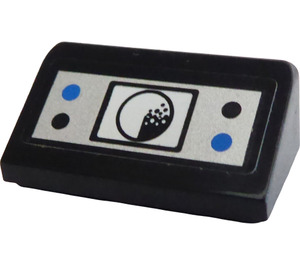 LEGO Slope 1 x 2 (31°) with Black and Blue Buttons and Radar Sticker (85984)