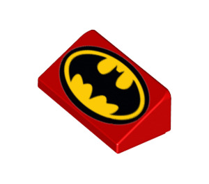 LEGO Slope 1 x 2 (31°) with Classic Batman Logo (29094 / 85984)