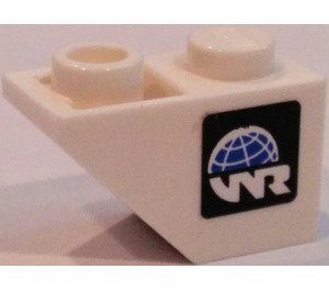 LEGO Slope 1 x 2 (45°) Inverted with World Racers Logo (Right) Sticker (3665)