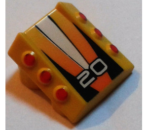 LEGO Slope 1 x 2 x 2 with Flanges and Pistons with '20' (30603)