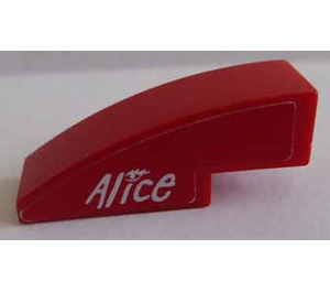 LEGO Slope 1 x 3 Curved with 'Alice' Left Side Sticker (50950)