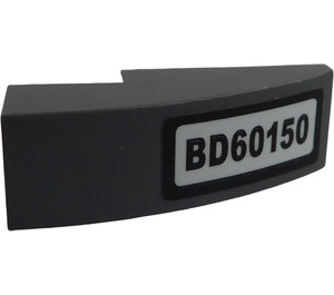 LEGO Slope 1 x 3 Curved with 'BD60150' Sticker (50950)