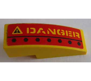LEGO Slope 1 x 3 Curved with 'DANGER' Right Side Sticker (50950)