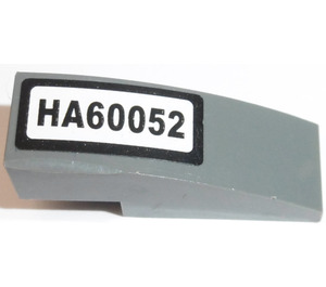 LEGO Slope 1 x 3 Curved with 'HA60052' Sticker (50950)